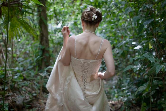 Exotic Waterfall Wedding